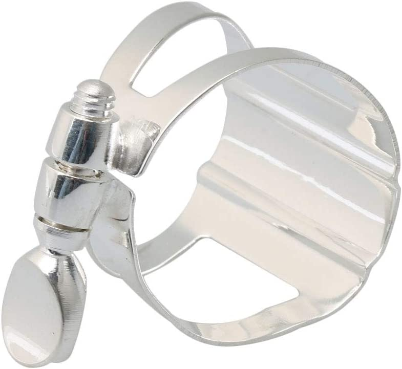 Musically Silver Plated Clarinet Ligatures Cap For Bass Clarine