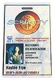 Firefly Serenity Kaylee Frye Id Prop Badge