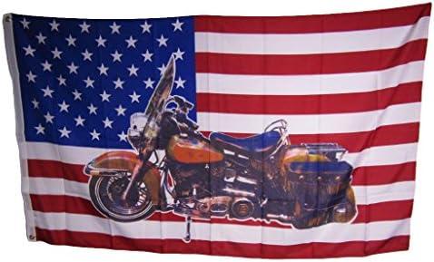 NEW BIKER MOTORCYCLE 3X5ft FLAG fade resist us seller