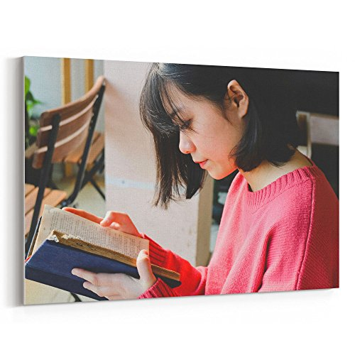 Westlake Art   Reading Bible   16X24 Canvas Print Wall Art   Canvas Stretched Gallery Wrap Modern Picture Photography Artwork   Ready To Hang 16X24 Inch