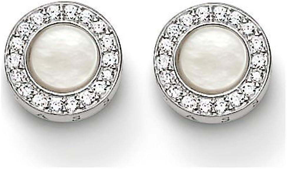 Damen Ohrstecker Silber 925 Ohrringe rosa weiß Sterlingsilber 925 sb139