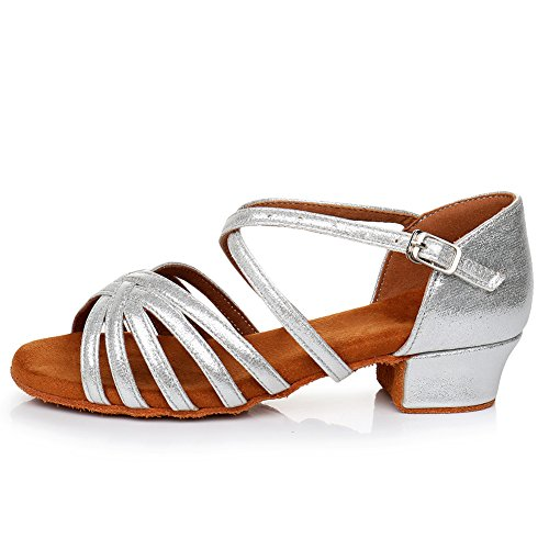 Silver Latin Dance amp;Women's Shoes Performance Ballroom Shoes Model Standard Girls Salsa YKXLM UKLP1202 ZqBxtp7nq