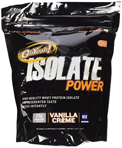 Oh Yeah! Isolate Power Supplement, Vanilla Creme, 1 Pound