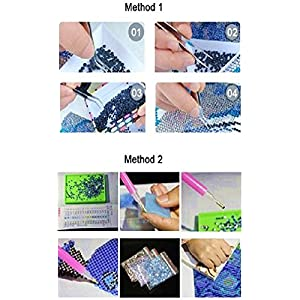 YEESAM Art New 5D Diamond Painting Kit - Little Chrysanthemum - DIY Crystals Diamond Rhinestone Painting Pasted Paint by Number Kits Cross Stitch Embroidery