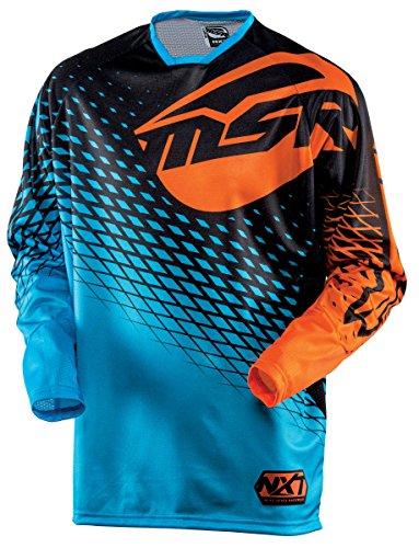 Msr Motorcycle Gear (MSR Racing M15 NXT Men's MotoX Motorcycle Jersey - Blue/Orange / Large)