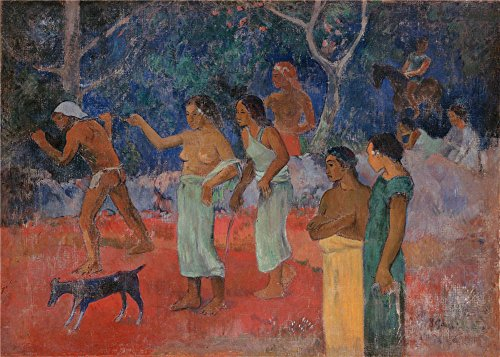 Oil Painting 'Gauguin, Paul_1896_Scene From Tahitian Life', 24 x 34 inch / 61 x 85 cm , on High Definition HD canvas prints is for Gifts And Bar, Bath Room And Home Theater Decoration