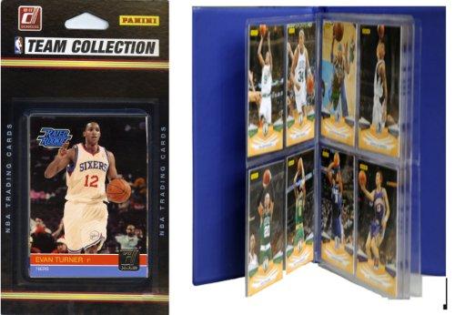 NBA Philadelphia 76ers Licensed 2010-11 Donruss Team Set Plus Storage Album by C&I Collectables