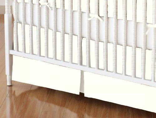 SheetWorld - MINI Crib Skirt (24 x 39) - Solid Ivory Woven - Made In USA by SHEETWORLD.COM