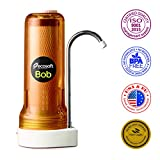 Ecosoft Countertop Water Filter System for Faucet Mount with Extra Filtration Cartridge - Orange