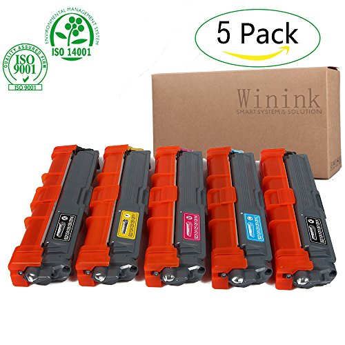 Winink MFC 9130cw Toner Cartridge 5 pack Compatible Toner Replacement for Brother TN221 TN225 for HL-3140CW HL-3170CDW HL-3180CDW MFC-9130CW MFC-9330CDW MFC-9340CDW Laser Printer