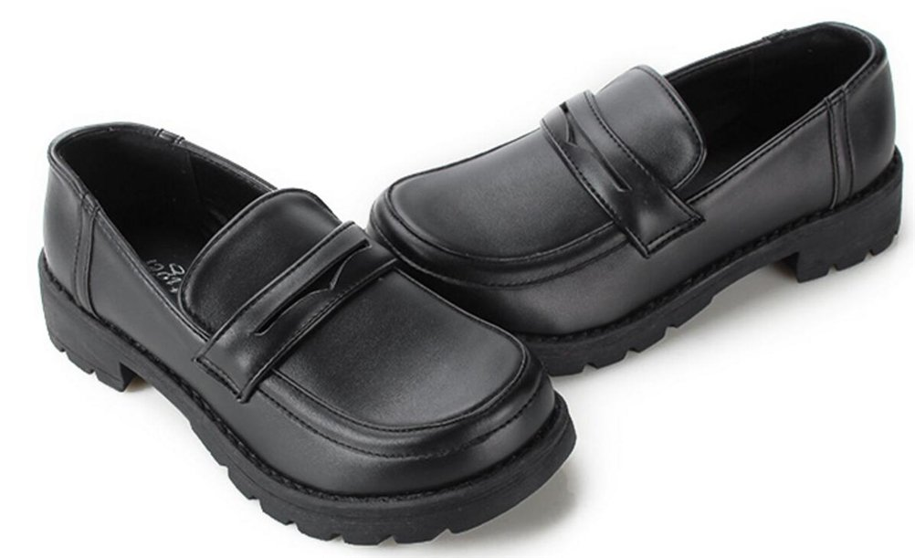 Ace Women's Girl's Lolita Low Top Japanese Students Maid Uniform Dress Shoes (8, Black) by ACE SHOCK (Image #2)