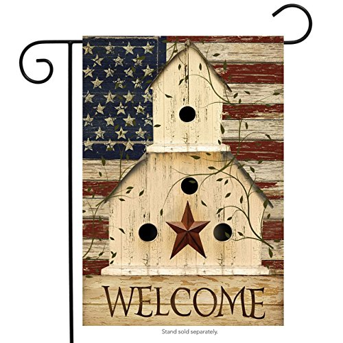 Briarwood Lane Americana Welcome Garden Flag Primitive Patri