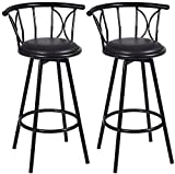 Bar Stools Chairs 1 Order 2 Bar Stools Kitchen Counter Modern Compatible Attractive Design Swivel 360 Degree Rotatable Counter Height 250LBS Weight Capacity Beautifully Constructed Swivel Stool
