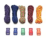 Stockstill Outdoor Supply 100 ft Multicolored Paracord Bracelet Kit w 5 Large Multicolored Matching Paracord Buckles