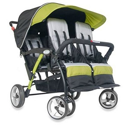 Childcraft The Quad Sport 4 Passenger Stroller, Lime by Child Craft