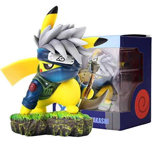 Jasenv Pikachu Cosplay Kakashi Model Anime Action Figure Toys Gifts