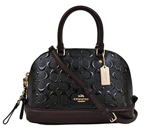 Black Sierra Handbag Shoulder Satchel Purse Mini Coach Women��s Oxblood Inclined Shoulder YznIUx