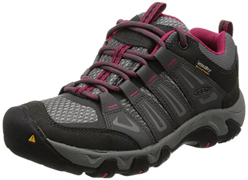 KEEN Women's Oakridge Waterproof Shoe, Magnet/Rose, 9 M US