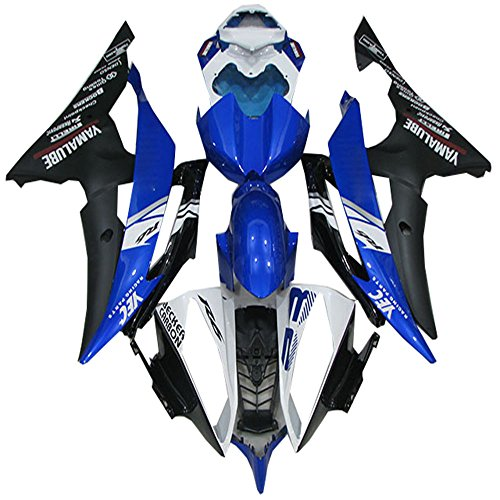 NT FAIRING Blue Black White Injection Mold Fairing Fit for Yamaha 2008-2016  YZF R6 New Painted Kit ABS Plastic Motorcycle Bodywork Aftermarket