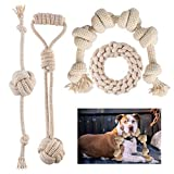 Dog Toys for Aggressive Chewers are Hand-Woven from Natural Cotton and Linen Dog Chewing Toy Cleaning Teeth Suitable for Large Medium and Small Dogs Dog Rope Toys