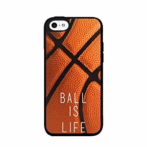 Basketball Ball Is Life - TPU Rubber Silicone Phone Case Back Cover (iPhone 5c)
