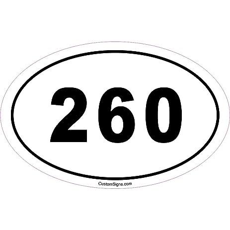 Amazoncom Area Code Bumper Sticker For Car Automotive - 260 area code