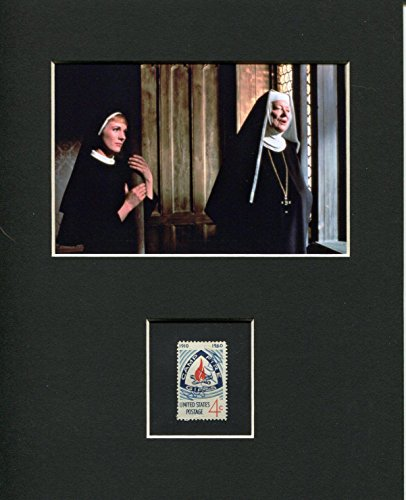 Peggy Wood The Sound of Music Signed Autograph Photo Display W/Julie Andrews from HollywoodMemorabilia
