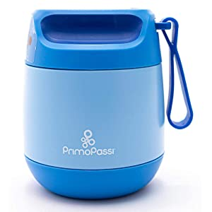 Primo Passi Insulated Food Jar - 12 oz/350ml - Blue | Baby Insulated Food Container