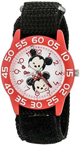 Disney Girl's 'Mickey Mouse' Quartz Plastic and Nylon Watch, Color:Black (Model: W003001)