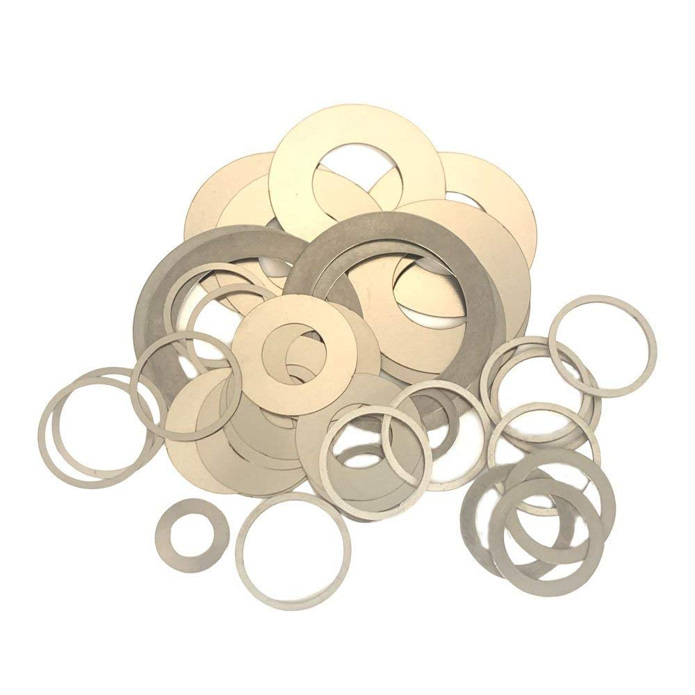 WKOOA Shim Washers Stainless Steel Ultrathin Gasket Thin Flat Washer Pack of 100-6x10x0.1