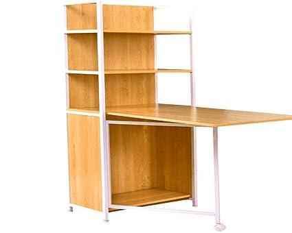 f967be6f615 Resizable Desk Bookcase Computer 4 Shelves Office Standing Wood Student  Shelf Table Gaming Corner Desktop Keyboard