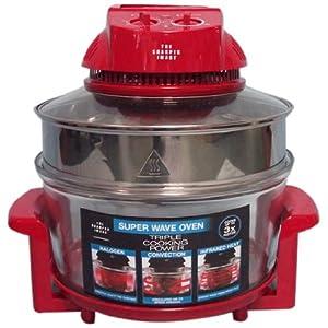 The Sharper Image Red Super Wave 12-1/2-Quart Countertop Oven, 1300-Watt