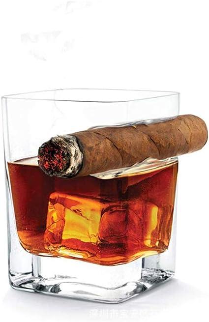 Vaso De Whisky con Soporte para Cigarrillos, Vaso Doble ...