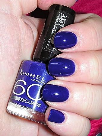 Amazon.com : Rimmel 60 Second Nail Polish - Blue My Mind (Pack of 3 ...