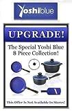 yoshi blue skillet - Yoshi Blue 8 Piece Set Cookware Frying Pan by Yoshi Blue