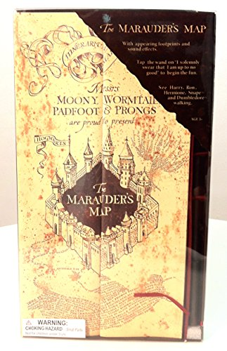 Harry Potter Electronic Marauder's Map w/ Moving Footprints
