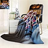 AmaPark Luminous Microfiber Throw Blanket happy young romantic couple sitting on sofa in front of fireplace at winter sea Glow In The Dark Constellation Blanket, Soft And Durable Polyester(60''x 50'')