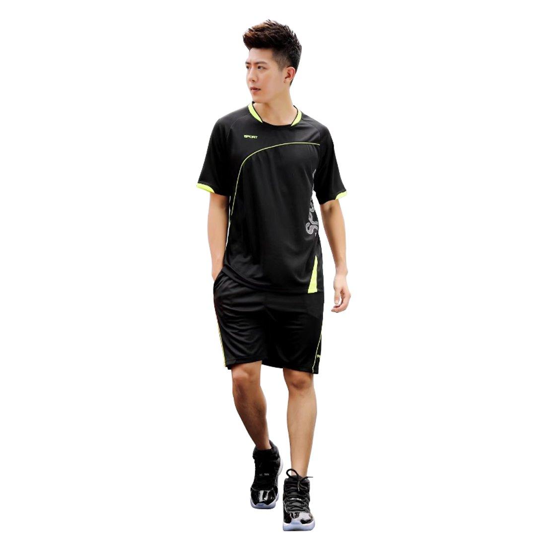 Inlefen Men Kids Sportswear Short Sleeve Clothes Fitness Basketball
