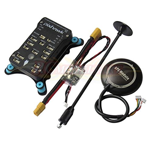 Hobbypower Pixhawk PX4 32Bit Flight Controller + NEO-7M GPS + Power Module + Shock Absorber for FPV Quadcopter Multirotor