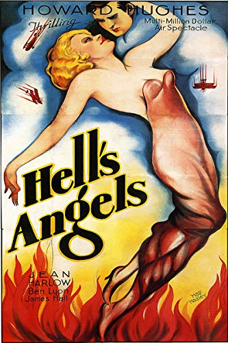 Poster Hell Movie - American Gift Services - Hell's Angels Vintage Howard Hughes Jean Harlow Movie Poster Print - 24x36