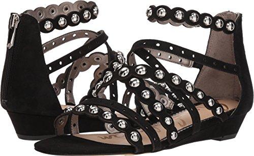 (Sam Edelman Women's Dustee Wedge Sandal, Black Suede, 6.5 M US)