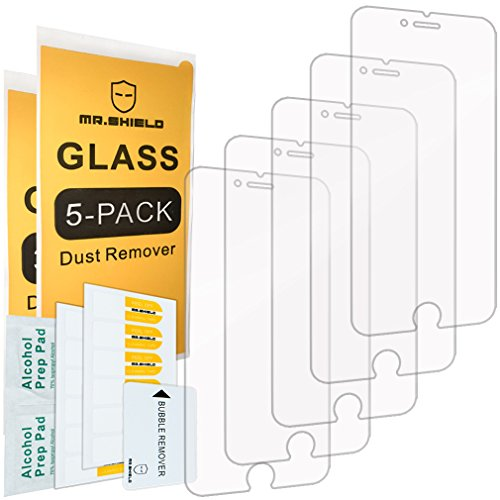 [5-Pack]-Mr.Shield for iPhone 6 / iPhone 6S [Tempered Glass] Screen Protector with Lifetime Replacement (Glass Iphone 6 Screen Protector)