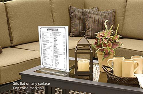 Marketing Holders Sign Holder Literture Flyer Display Stand Bottom Load Frames 11''w x 14''h Pack of 10 by Marketing Holders (Image #1)