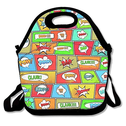 Clank Pop Art Style Lunch Bags Lunch Tote Lunch Box Handbag For Kids And Adults