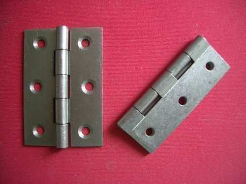 2 x 65mm 2.5' Inch Steel Self Colour Door Butt Hinges Home Fusion