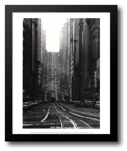 California Street-San Francisco 1964 14x16 Framed Art Print by Walker, - San Francisco Galleria
