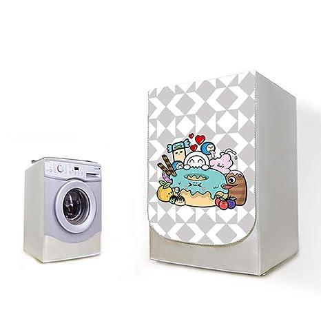 AKEfit Cubierta de la lavadora Impermeable Transparente Patrón de dona Lavadora con cierre de polvo Cubierta con cremallera Protector de lavadora ...