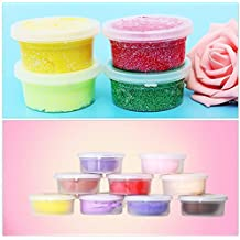 LtrottedJ 12 Pc Slime Storage Containers Foam Ball Storage Cups ,Containers With Lids