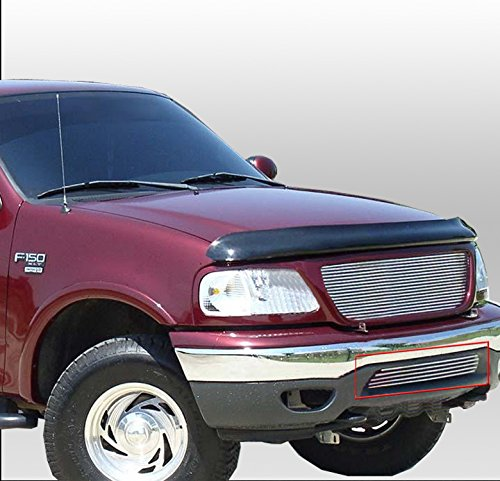 ZMAUTOPARTS Bumper Billet Grille Grill Insert For 1999-2002 Ford Expedition / 1999-2003 F-150 4WD ()