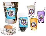10+ Drinks Royal Milk Boba Tea Kit: Tea Powder, Tapioca Pearls & Straws By Buddha Bubbles Boba
